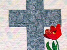 Cross with Flowers for Rememberance Day